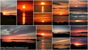 Solnedganger våren og sommeren 2015